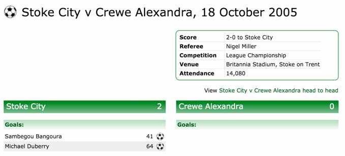 Stoke-Crewe 2005