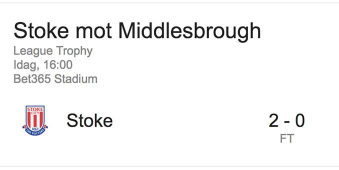 Stoke-Middlesbrough